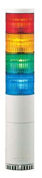 パトライト(PATLITE) LED中型積層信号灯 LME-410FBW 4段 点灯/点滅/ブザー AC100V 60Ф 直取付け 赤・黄・緑・青(AC220V選べます。) 送料無料