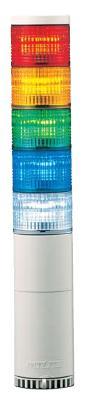 パトライト(PATLITE) LED中型積層信号灯 LME-510FBW 5段 点灯/点滅/ブザー AC100V 60Ф 直取付け 赤・黄・緑・青・白(AC220V選べます。) 送料無料