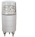 日恵製作所 LED超小型回転灯  ニコミニ VL04M-100DC AC100V Ф45 制御入力有りブザー付き 2色(赤回転、緑点灯) 送料無料