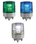 日恵製作所 LED超小型薄型回転灯  ニコミニ・スリム VL04S-024A AC/DC12〜24V Ф45 制御入力有り(緑or青or白)