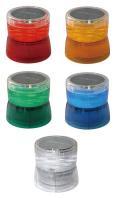 日恵製作所 太陽電池式LED回転灯  ニコソーラー VM10S-B/M Ф105 バッテリー式 マグネットタイプ 送料無料