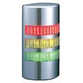 パトライト(PATLITE) 薄型LED壁面取付け積層信号灯 クロムメッキ仕様 WE-302FB 3段 点灯・点滅・ブザー AC/DC24V 赤・黄・緑 送料無料