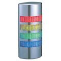 パトライト(PATLITE) 薄型LED壁面取付け積層信号灯 クロムメッキ仕様 WE-402FB 4段 点灯・点滅・ブザー AC/DC24V 赤・黄・緑・青 送料無料