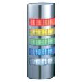 パトライト(PATLITE) 薄型LED壁面取付け積層信号灯 クロムメッキ仕様 WE-502FB 5段 点灯・点滅・ブザー AC/DC24V 赤・黄・緑・青・白 送料無料