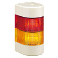 パトライト(PATLITE) LED壁面取付け積層信号灯 WME-2M2AFB 2段 点灯・点滅・ブザー AC90~250V(赤黄or赤緑) 送料無料