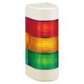 パトライト(PATLITE) LED壁面取付け積層信号灯 WME-3M2A 3段 点灯 AC90~250V 赤・黄・緑 送料無料