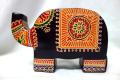 インド 革 貯金箱 ゾウ 中