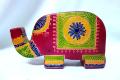 インド 革 貯金箱 ゾウ 小