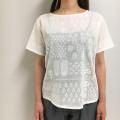 木版風カリプリントTシャツ  19RHB17