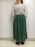 綿麻ギャザースカート  19RSK03