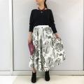 ルクマニ フラワーキャリコスカート RWK705