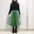 ルクマニ コスモフラワープリントスカート RWK709