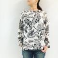 フラワーキャリコ コットンガーゼTシャツ WB975