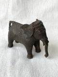 インド コンド族 真ちゅう立像 ゾウ Z0014