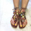 インド カラフル足飾り 4Z708
