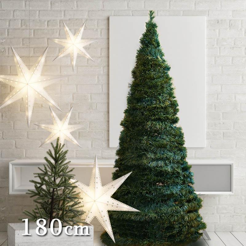 先行予約11月上旬入荷予定 アコーディオンツリー180cm ヌードツリー イルミネーションライト付き (Accordion tree 180) 【送料無料】