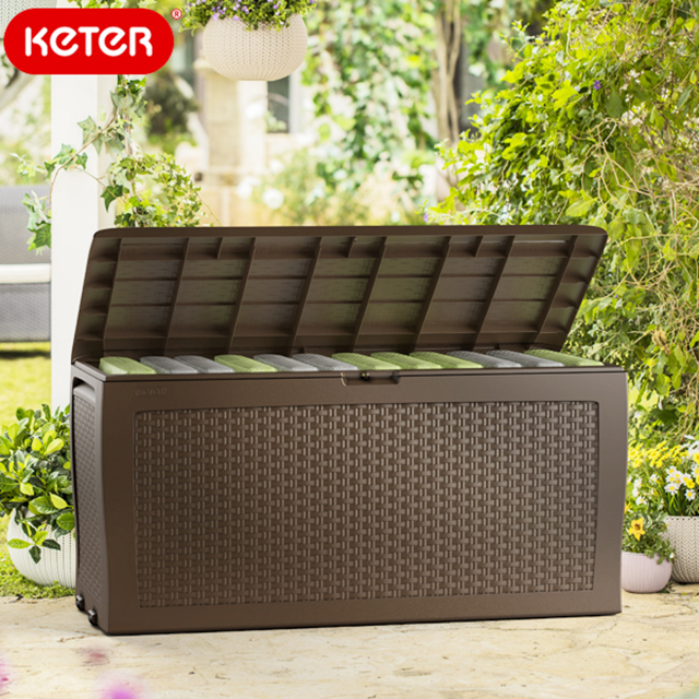 ケター ラタン調ガーデンボックス サモアボックス (Keter SAMOA Box) 【大型宅配便】