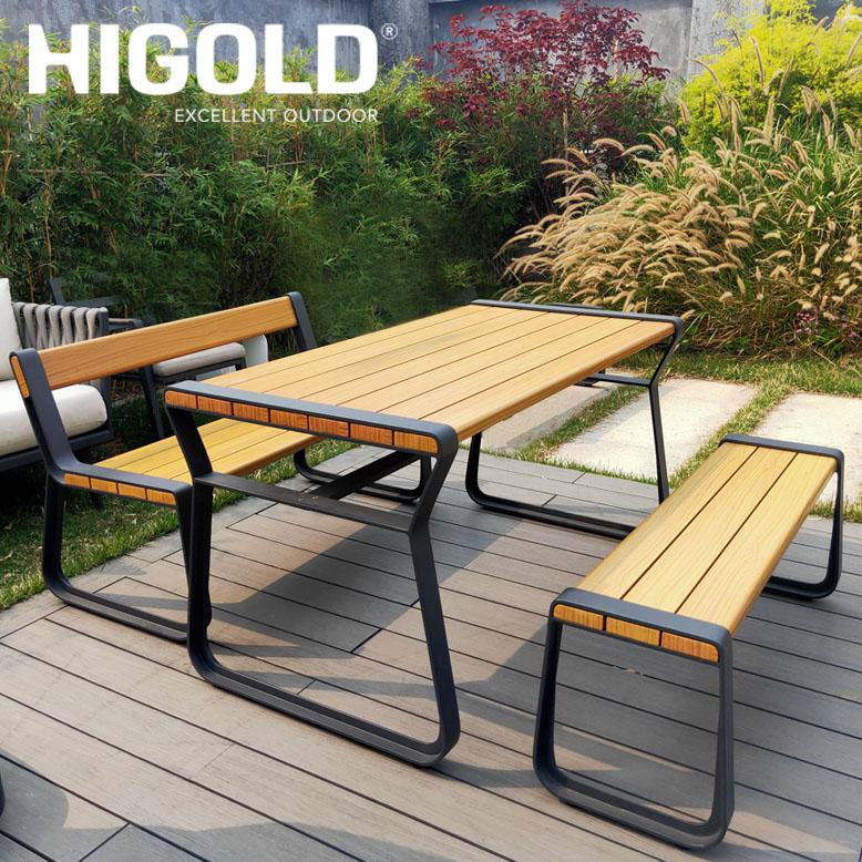 先行予約9月中旬頃入荷予定 ヒゴールド クラーク ベンチ3点セット (HIGOLD Clark bench 3set) 【大型宅配便・ 代引き不可】