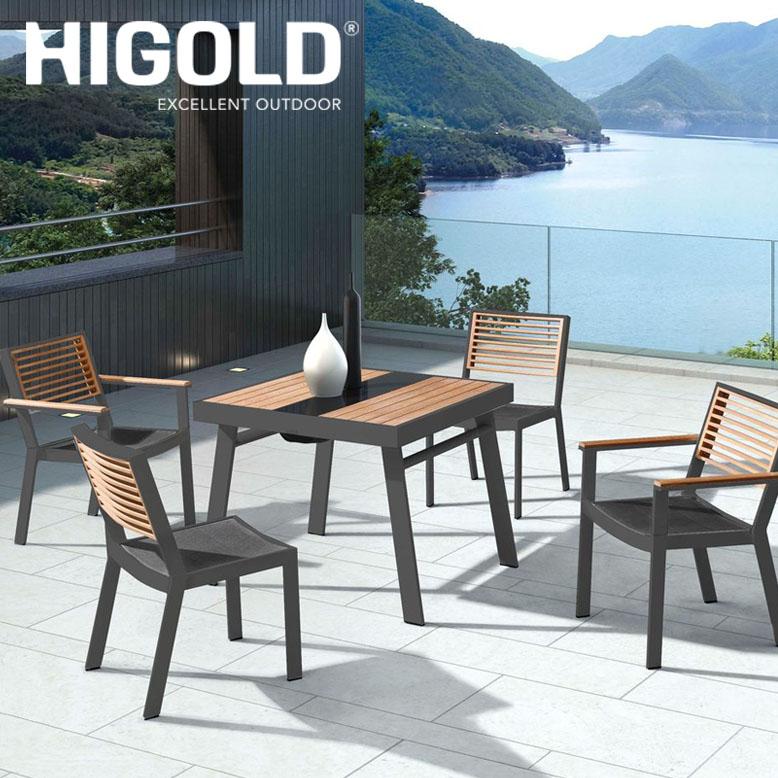 ヒゴールド ヨークダイニングテーブル5点セット ブラック(HIGOLD York dining table 5set black) 【大型宅配便Y・ 代引き不可】
