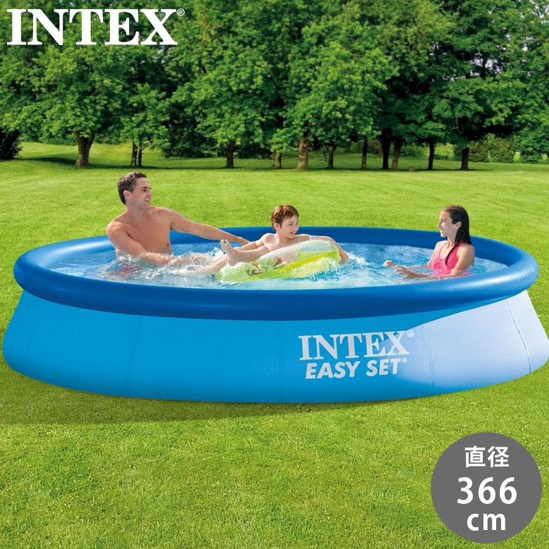 インテックス イージーセットプール 366×76cm (INTEX Easy set pool 28130) 【メーカー直送/代金引換・同梱不可】送料無料