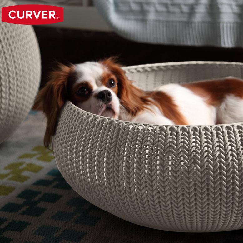 先行予約9月下旬入荷予定 カーバー ニット コジー ペットベッド (Curver Knit Cozy Pet Bed) 【送料無料】