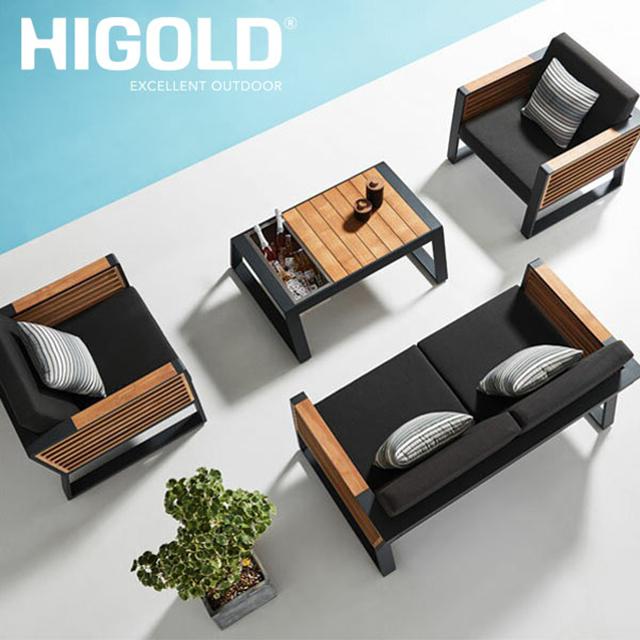 ガーデンファニチャー HIGOLD ニューヨークテーブル4点セット