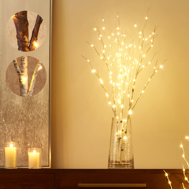 DEPOS テーブルシラカバツリー ブランチライト 80cm (DEPOS Table birch tree branch light 80cm) 【送料無料】