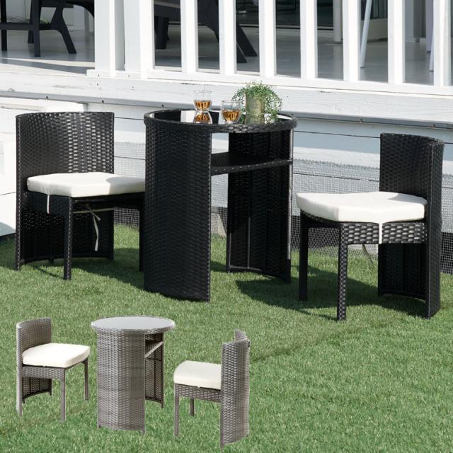 コンパクトテーブル3点セット (Compact table 3set)【大型宅配便】