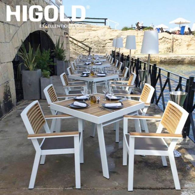 ヒゴールド ヨークダイニングテーブル5点セット ホワイト (HIGOLD York dining table 5set white)【大型宅配便Y・代金引換不可】