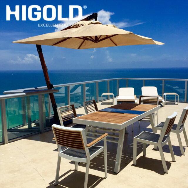 ヒゴールド ヨーク ダイニング2000テーブル 5点セット ホワイト (HIGOLD York dining 2000 table 5set white) 【大型宅配便Y・ 代引き不可】
