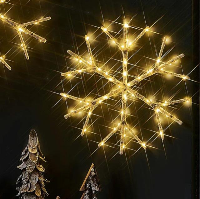 DEPOS シラカバ スノーフレークライト (DEPOS birch tree snow flake light) 【送料無料】