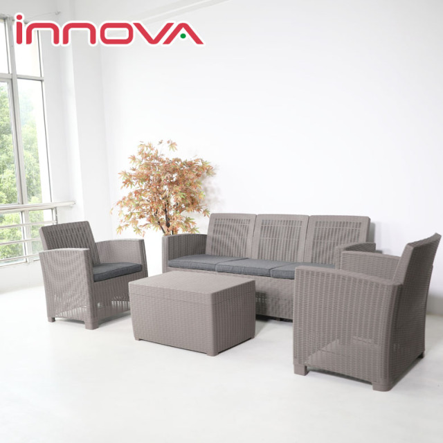 先行予約11月上旬入荷予定 イノバ ヴィアン 3シートソファ ストレージ4点セット (innova VIEAN 3seat sofa storage 4set) 【大型宅配便】