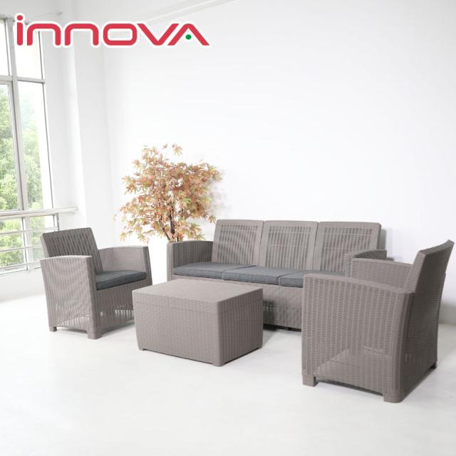 先行予約10月中旬入荷予定 イノバ ヴィアン 3シートソファ ストレージ4点セット (innova VIEAN 3seat sofa storage 4set) 【大型宅配便】