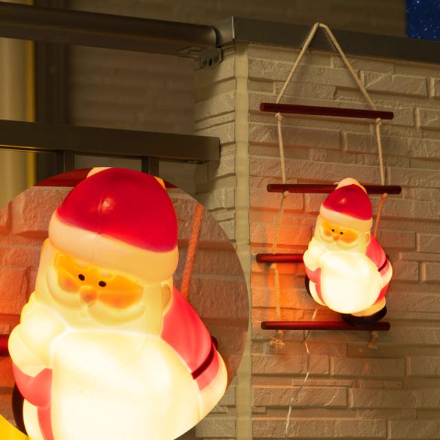 ブローライトはしごサンタ 1ピース (Blow light Ladder santa 1 piece)