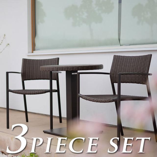 ケイラウコード オルビアダイニングテーブル3点セット (K RAUCORD OLBIA dining table 3set) 【代金引換・同梱不可】