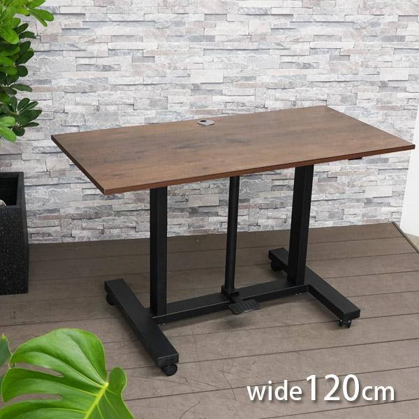 ガス圧昇降デスク  120×60cm (Lifting desk 120×60) 【大型宅配便】