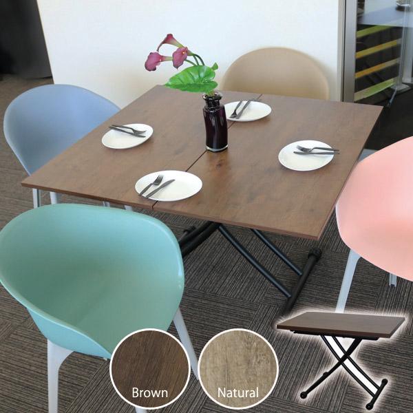 ガス圧昇降テーブル ダブル 110cm幅 (Lifting table double 110) 【大型宅配便】