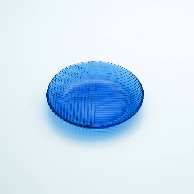 ガラスの皿 潮影 深皿2221DB
