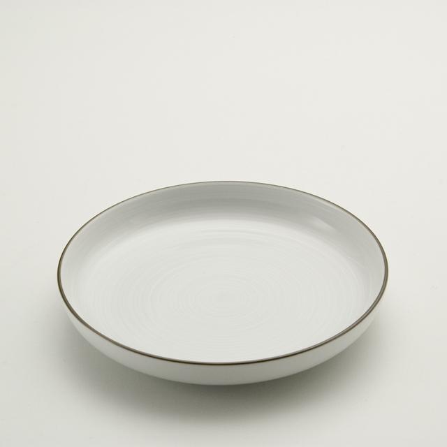 白磁千段 6.0深皿
