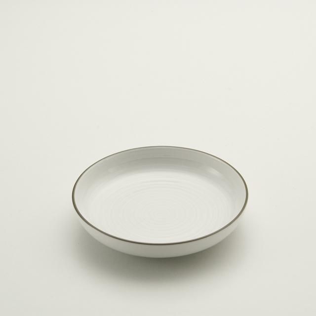 白磁千段 4.5深皿