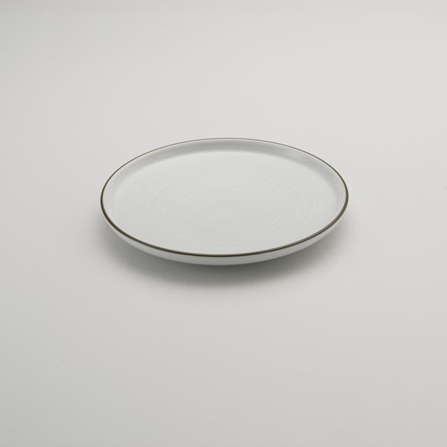 白磁千段 6号平皿