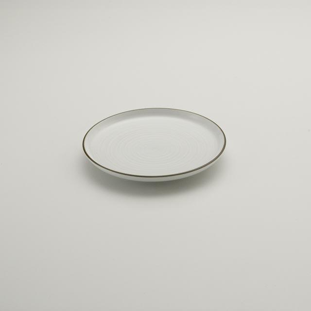 白磁千段 5号平皿