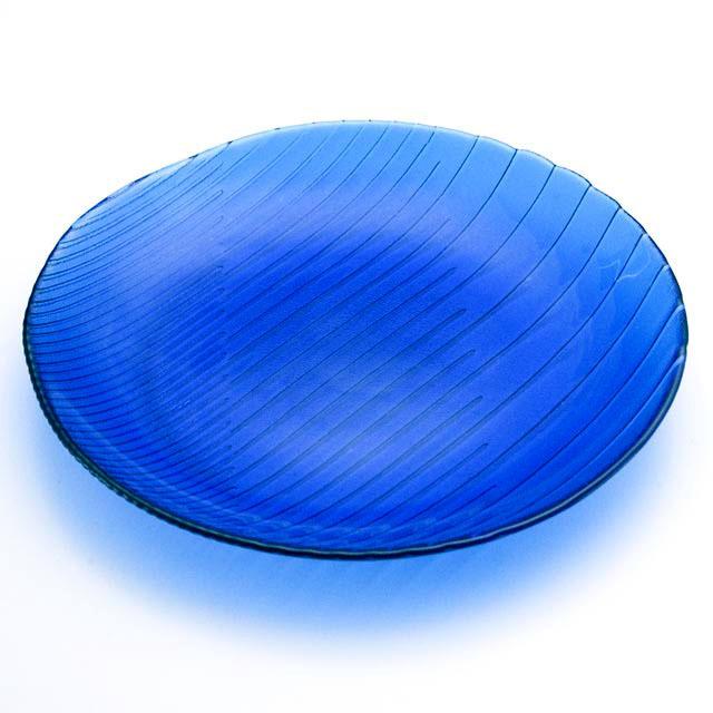 ガラスの皿 潮影 大皿2252DB