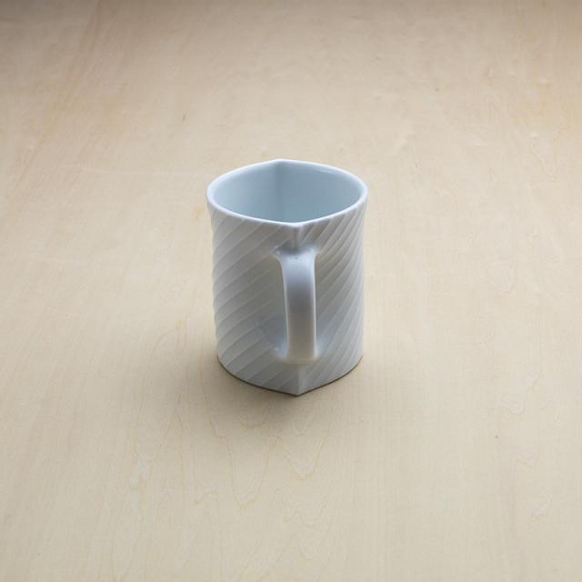 シェル マグカップ 白磁