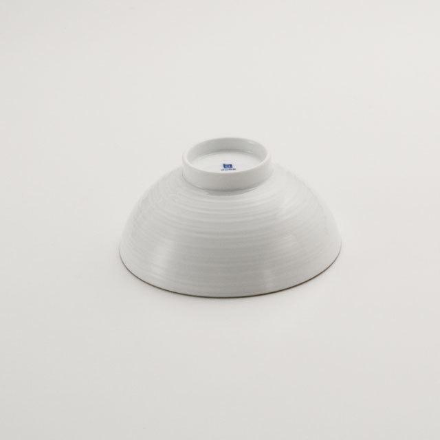 白磁千段 4.2寸飯碗