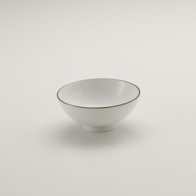 白磁千段 3.5寸飯碗