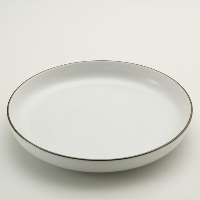 白磁千段 7.5深皿