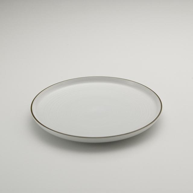 白磁千段 8号平皿