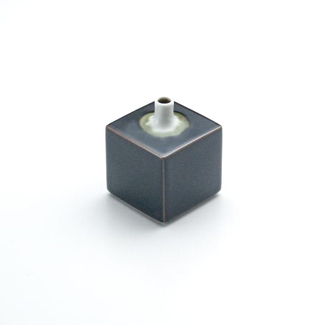 角型ミニ花瓶 天目