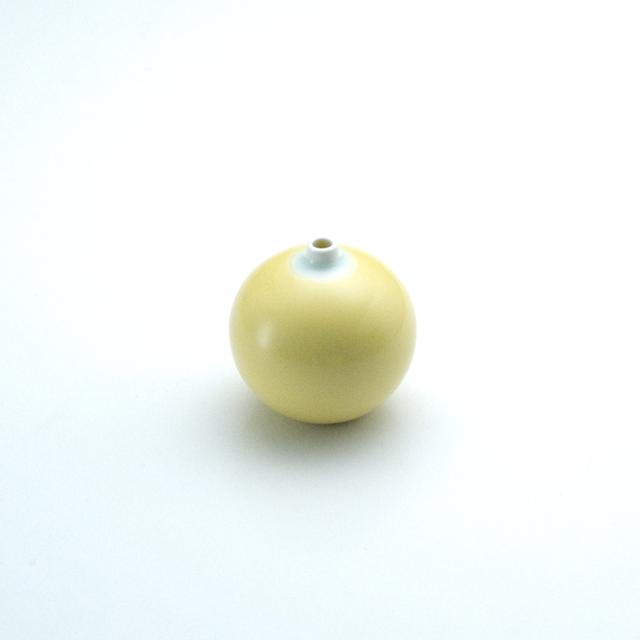 球型ミニ花瓶 黄